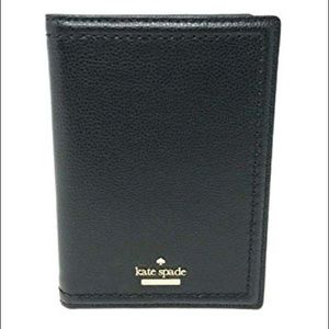 Kate Spade black passport holder